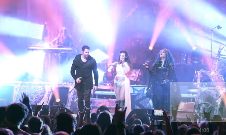 Kamelot, video live di 'Sacrimony' con Alissa White-Gluz ed Elize Ryd