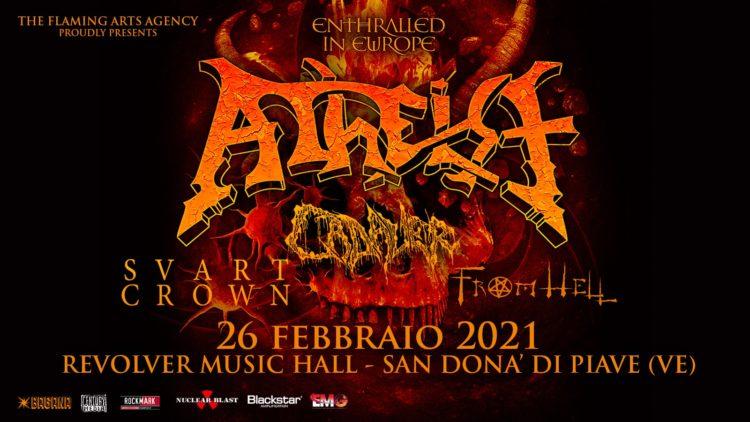 Atheist @Revolver Club – San Donà di Piave (VE), 26 febbraio 2021
