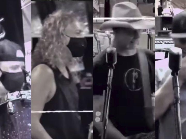 Metallica, di nuovo in studio (con la mascherina)