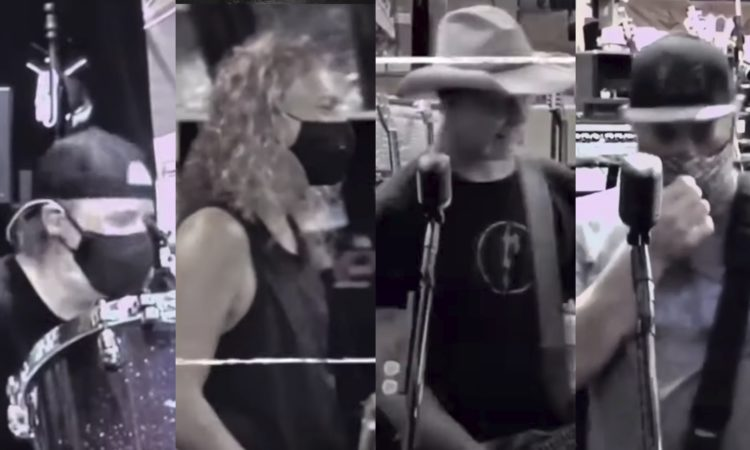 Metallica, di nuovo in studio (con la mascherina)