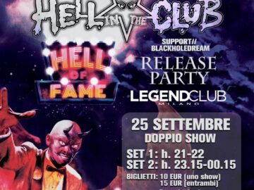 Hell In The Club @Legend Club – Milano, 25 settembre 2020