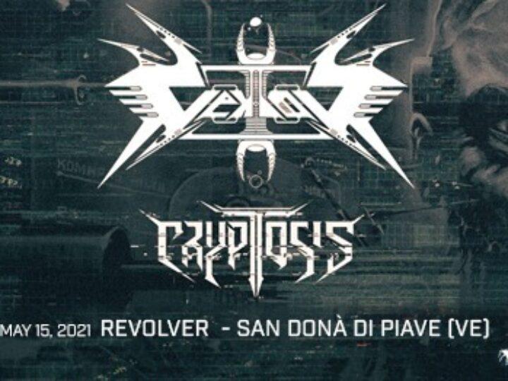 Vektor + Cryptosis @Revolver – San Donà di Piave (Ve), 15 maggio 2021