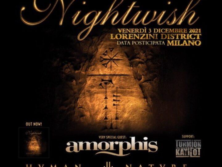 Nightwish + Amorphis + Guest @ Lorenzini Discrict – Milano, 3 dicembre 2021