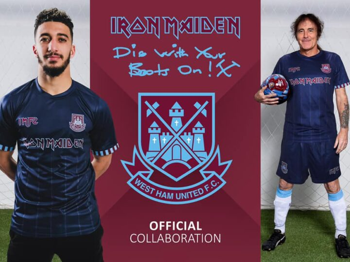 Iron Maiden, nuova t-shirt da calcio in collaborazione con la squadra inglese West Ham